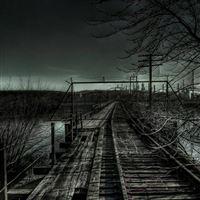 Dark Railroad iPad wallpaper