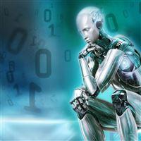 Robot Figures iPad wallpaper