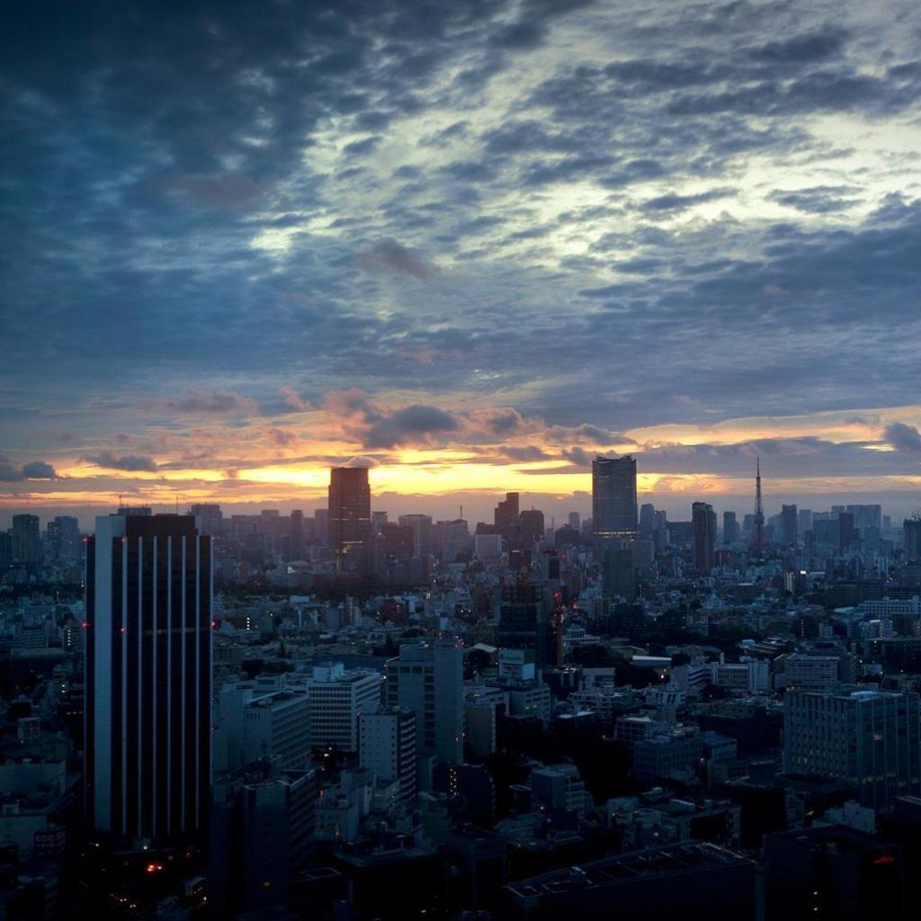 Sunset City IPad Wallpaper