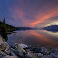 Sunset Lake iPad wallpaper