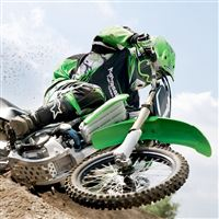 Green Dirt Bike iPad wallpaper