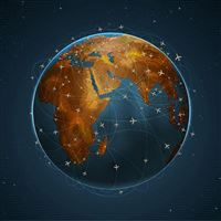 Flights Over Earth iPad wallpaper