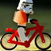 Funny Biker iPad wallpaper