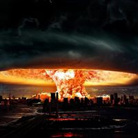 Nuclear Explosion Of Darkness iPad wallpaper