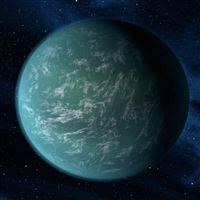 Outer SPace Planet iPad wallpaper