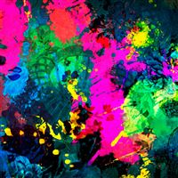 Colorful Paint Splatter  iPad wallpaper