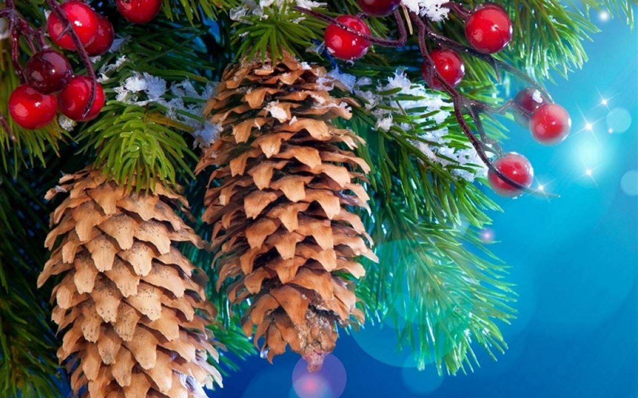 Digital Christmas Tree IPad Wallpaper