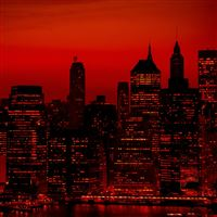 Red Sky At Night New York City iPad wallpaper