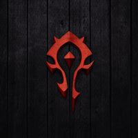 World Of Warcraft Horde Sign iPad wallpaper