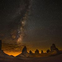 Starry Sky Over The Desert iPad wallpaper
