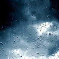 Lightning Storm Rainy Wet Glass Window iPad wallpaper