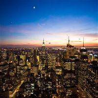 Magnificent New York Night Scene City View iPad wallpaper