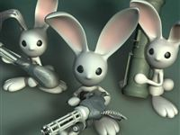 Bunny Revolution iPad wallpaper