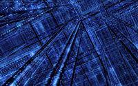 3D Blue Silicon City iPad wallpaper