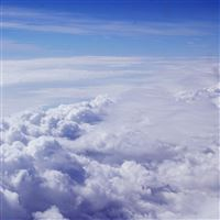 Sky Blue Clouds Nature Fly I Believe iPad wallpaper