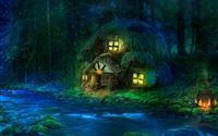 3D Fantasy Woodland iPad wallpaper
