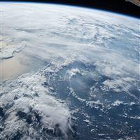 Earth Sky Cloud Space Blue Sea iPad wallpaper