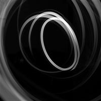 Circle Llight Dark Bw Pattern iPad wallpaper