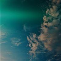 Sky Blue Green Cloud Sunny Clear Nature Flare Dark iPad wallpaper