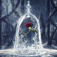 Disney Beauty Beast Art Illustration iPad wallpaper