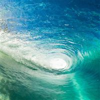 Wave Cool Summer Vacation Ocean Blue Green iPad wallpaper