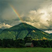 Mountain Cloud Sky Nature Green iPad wallpaper