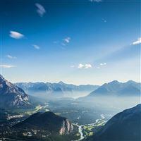 Mountain Sky Blue Nature Summer iPad wallpaper