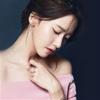 Kpop Yuna Girl Blue iPad wallpaper