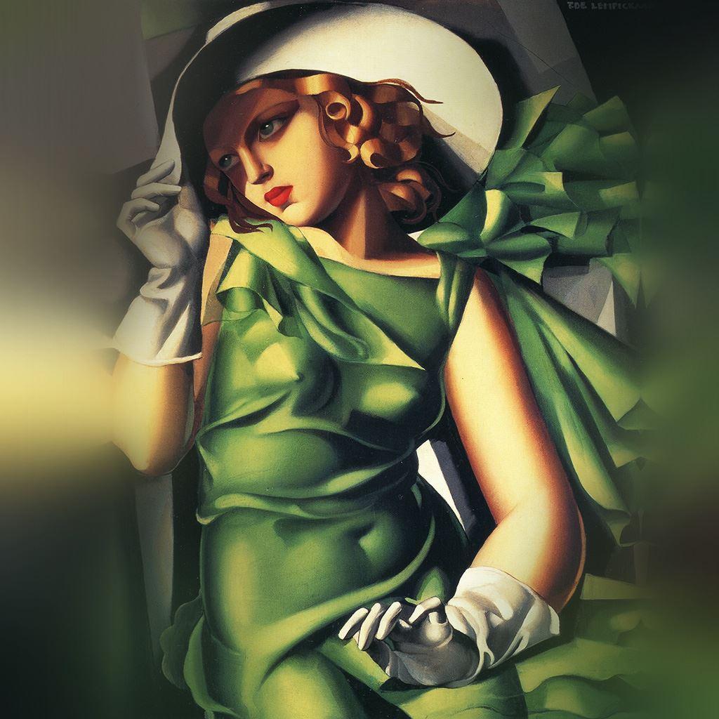 Tamara De Lempicka Illustration Art Classic Paintc iPad wallpaper