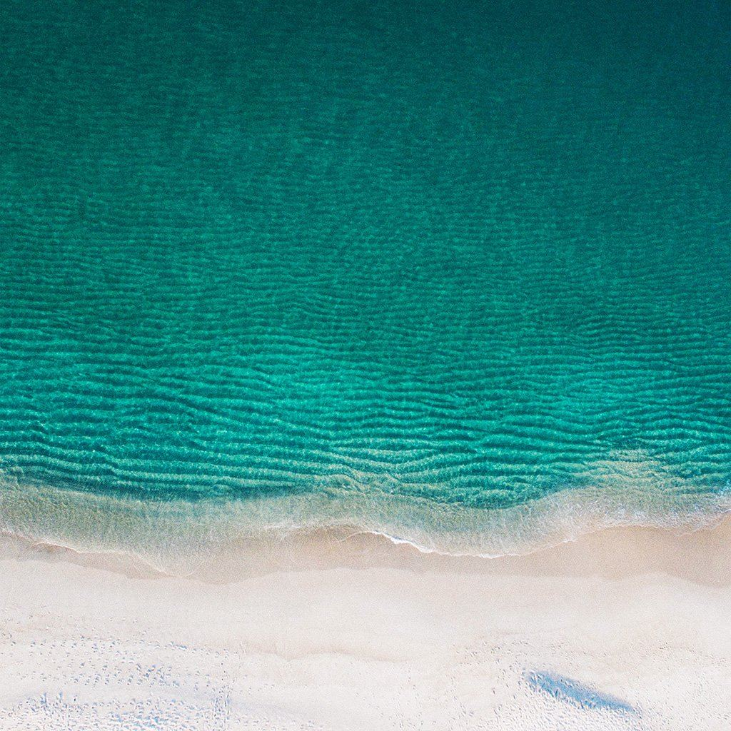 Sea Ocean Green Minimal Nature Wave Earth iPad wallpaper