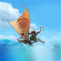 Surf Moana Disney Film Anime Summer Sea Iillustration Art iPad wallpaper