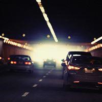 Drive Car City Bokeh Nature iPad wallpaper