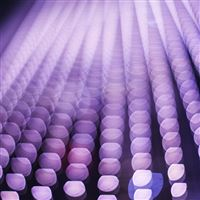 Light Bokeh Dark Purple Pattern iPad wallpaper