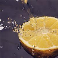 Orange Water Lemon Fruit Blue iPad wallpaper