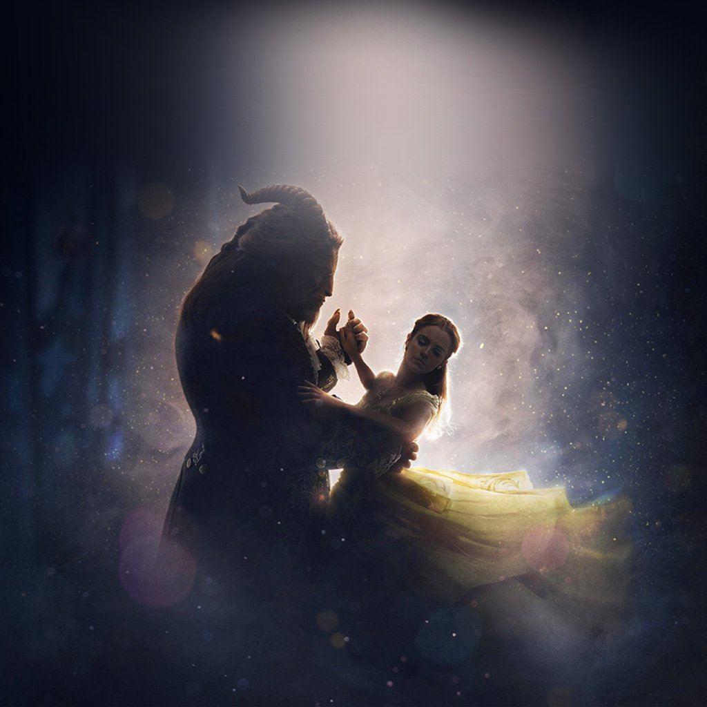 Disney Beauty Beast Illustration Art iPad wallpaper
