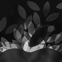 Apple Bw Dark Logo Illustration Art iPad wallpaper