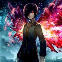 Tokyo Ghoul Kirishima Touka Man Space iPad wallpaper