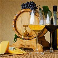 Wine Cheese Barrel Beverage iPad wallpaper