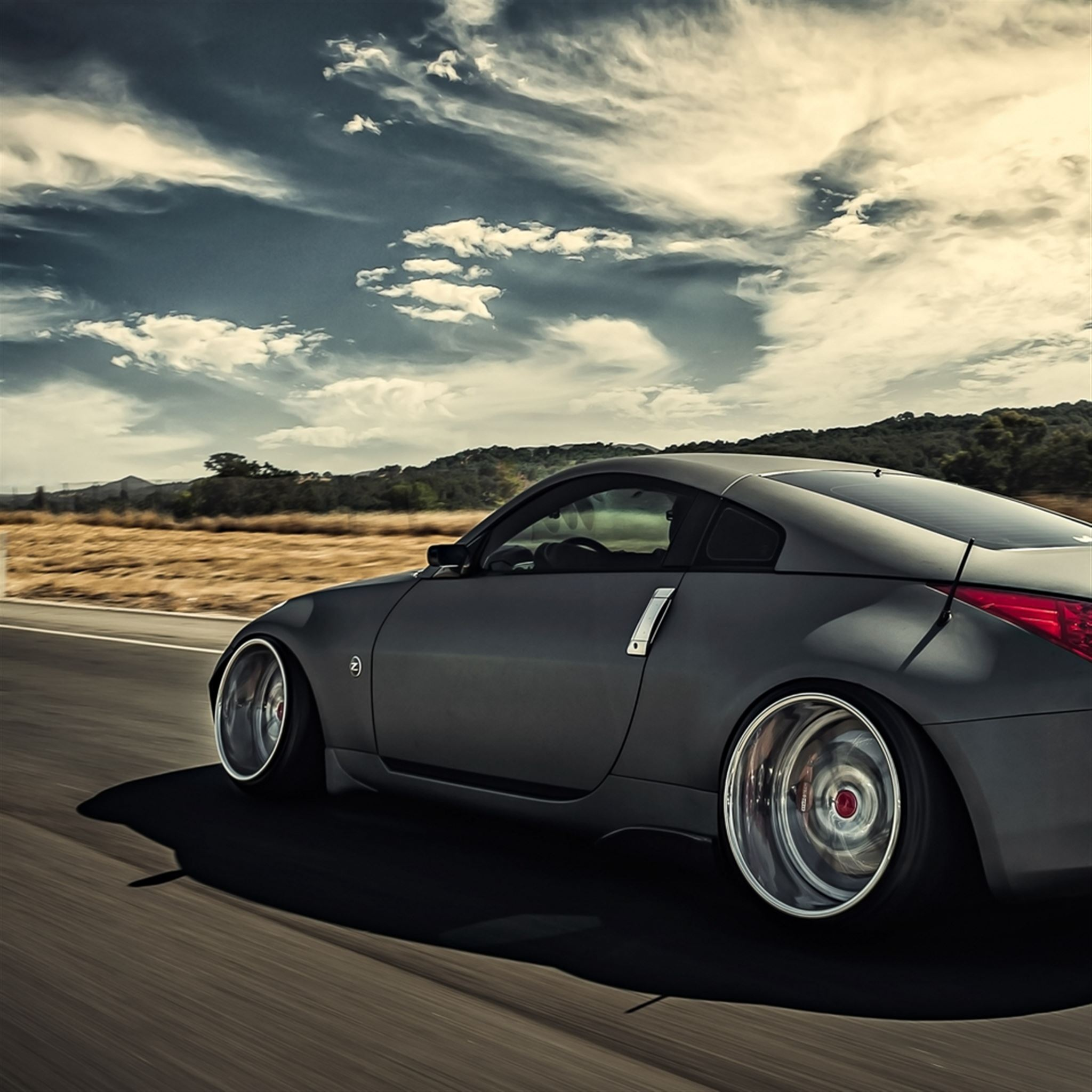 Nissan 350z Stance Movement Speed Side View iPad wallpaper