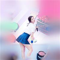 Kpop Girl Sing Cute Asian iPad wallpaper