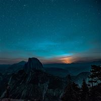 Mountain Night Sky Star Space Nature iPad wallpaper