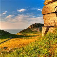 Exmoor Somerset Grass Sky iPad wallpaper