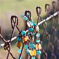 Fence Jewelry Macro Bracelet Beads Background Nature Moods Accessory Net iPad wallpaper