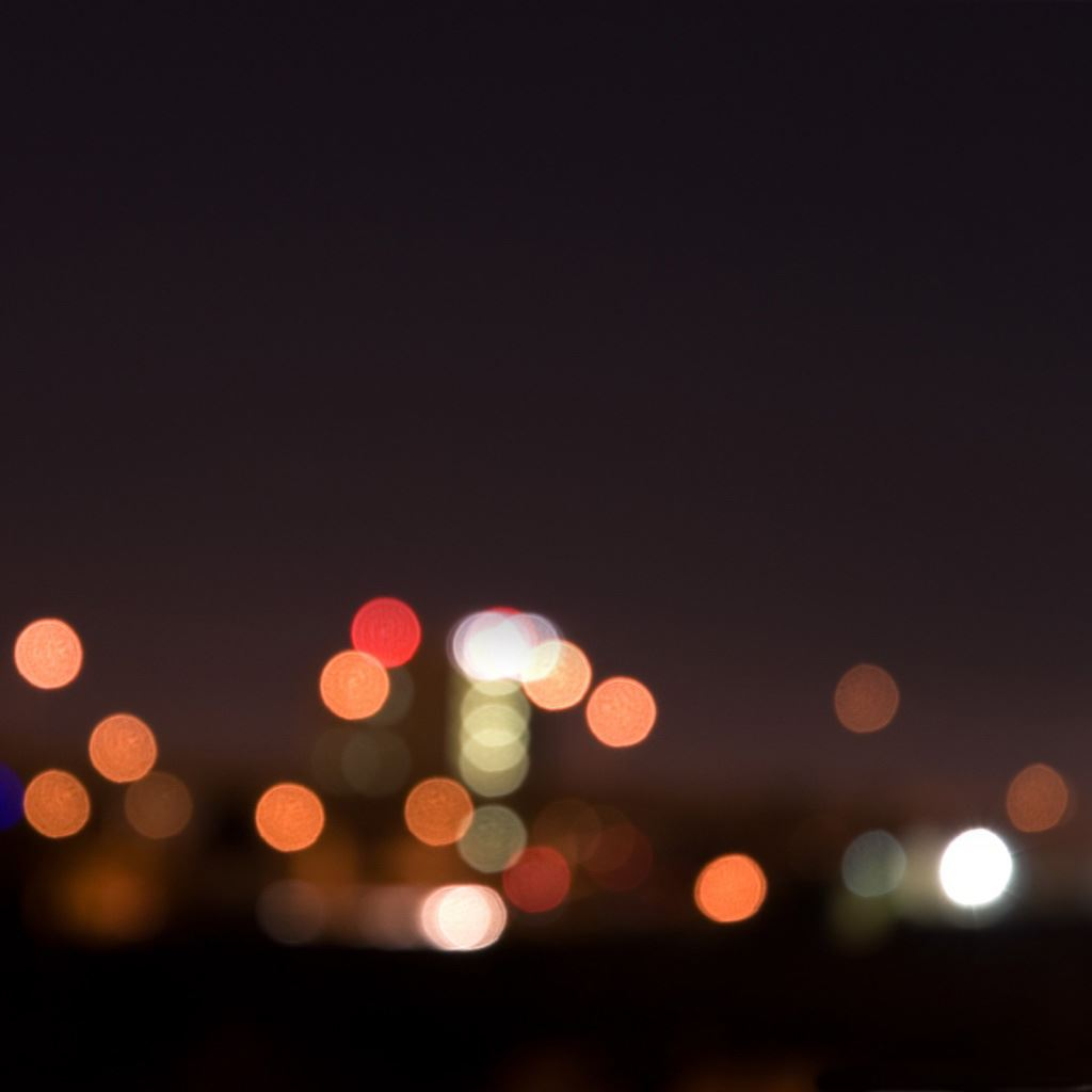 City night lights bokeh iPad wallpaper