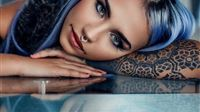 Girl tattoo iPad wallpaper