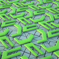 3D shape surface many iPad wallpaper