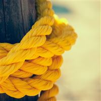 Yellow rope winding iPad wallpaper