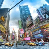 New York street buildings cars traffic iPad wallpaper