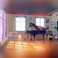 Summer piano iPad wallpaper