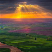 Sky sun light clouds iPad wallpaper